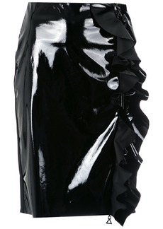 Tufi Duek vinyl ruffled skirt - Black