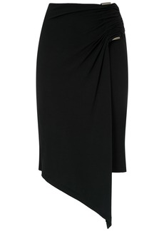 Tufi Duek wrap asymmetric skirt - Black