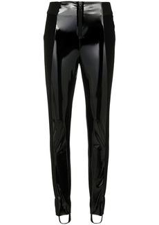 Tufi Duek vinyl panelled stirrup trousers