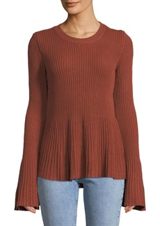 Tularosa Courage Bell-Sleeve Fit-&-Flare Sweater