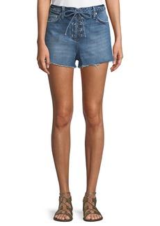 Tularosa Emma High-Rise Lace-Up Shorts