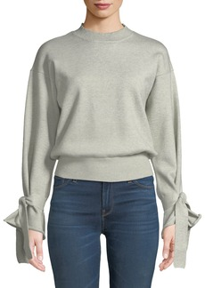 Tularosa Suzanne Tie Bell-Sleeve Crop Sweater