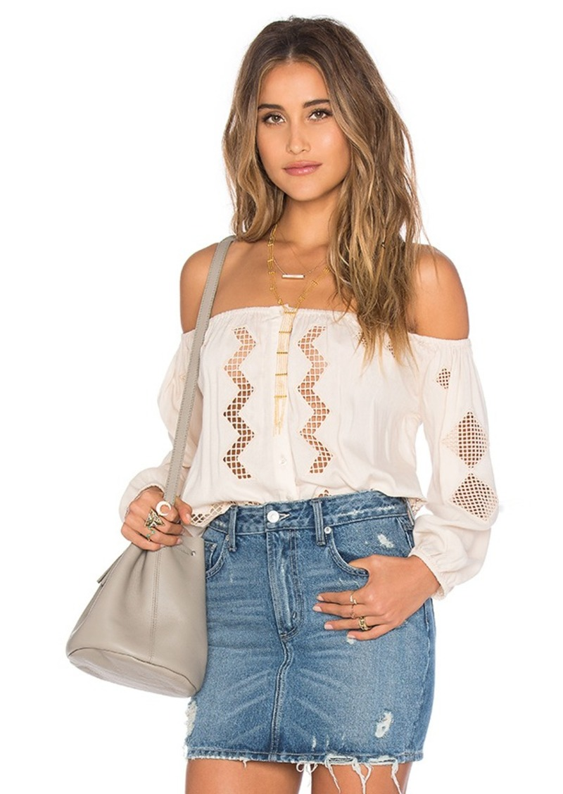 Brooke Top in Navy. - size L (also in M,S) Tularosa