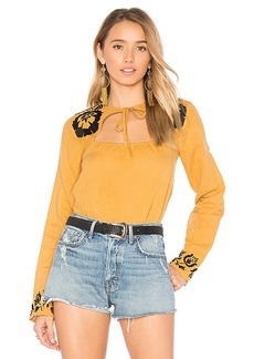 Tularosa Aspen Blouse in Mustard. - size L (also in S,XL)
