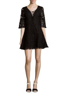 Tularosa Coal Lace-Up A-Line Dress