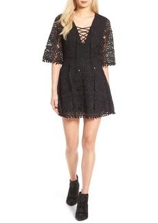 Tularosa Coal Lace-Up Lace Dress