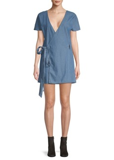 Tularosa Didion Denim Wrap Dress