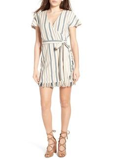 Tularosa Didion Stripe Wrap Dress