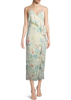 Tularosa Emily Floral-Print Maxi Wrap Dress