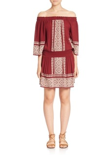 Tularosa Fiona Off-the-Shoulder Embroidered Dress