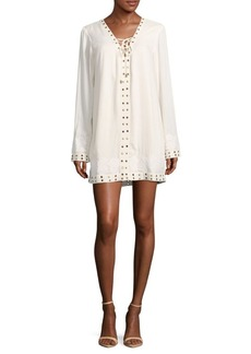 Tularosa Floral Embroidered Dress