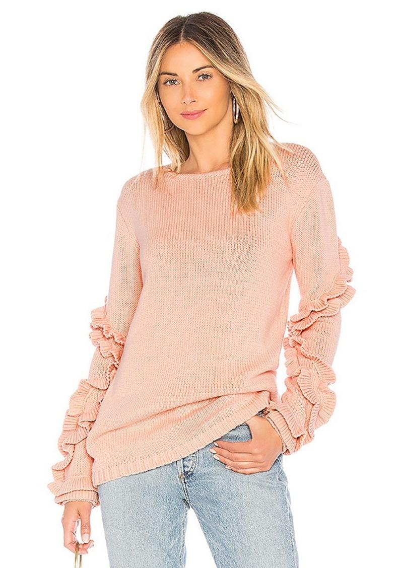 52a86b1d4a0 On Sale today! Tularosa Tularosa Flounce Sweater
