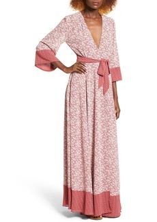 Tularosa Jolene Wrap Maxi Dress