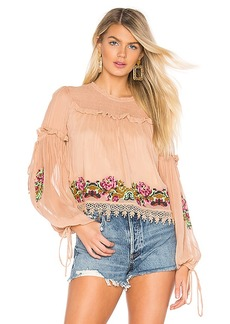 Tularosa Lottie Embroidered Top