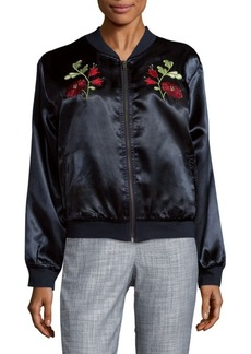 Tularosa Mara Embroidered Bomber Jacket