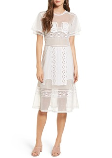 Tularosa Neil Lace Trim Dress