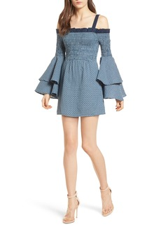 Tularosa Nicki Off the Shoulder Minidress