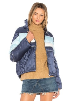 Tularosa Phillips Stripped Puffer in Blue. - size XXS (also in L,M,S,XS)