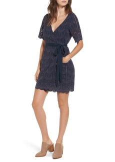 Tularosa Rocky Cutwork Embroidery Wrap Dress