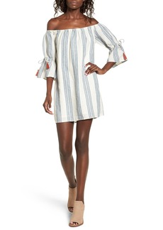 Tularosa Sara Stripe Off the Shoulder Dress