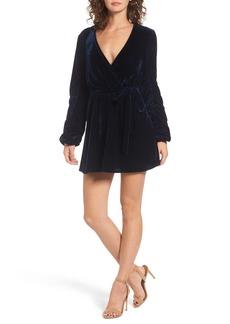 Tularosa Tawney Velvet Wrap Dress