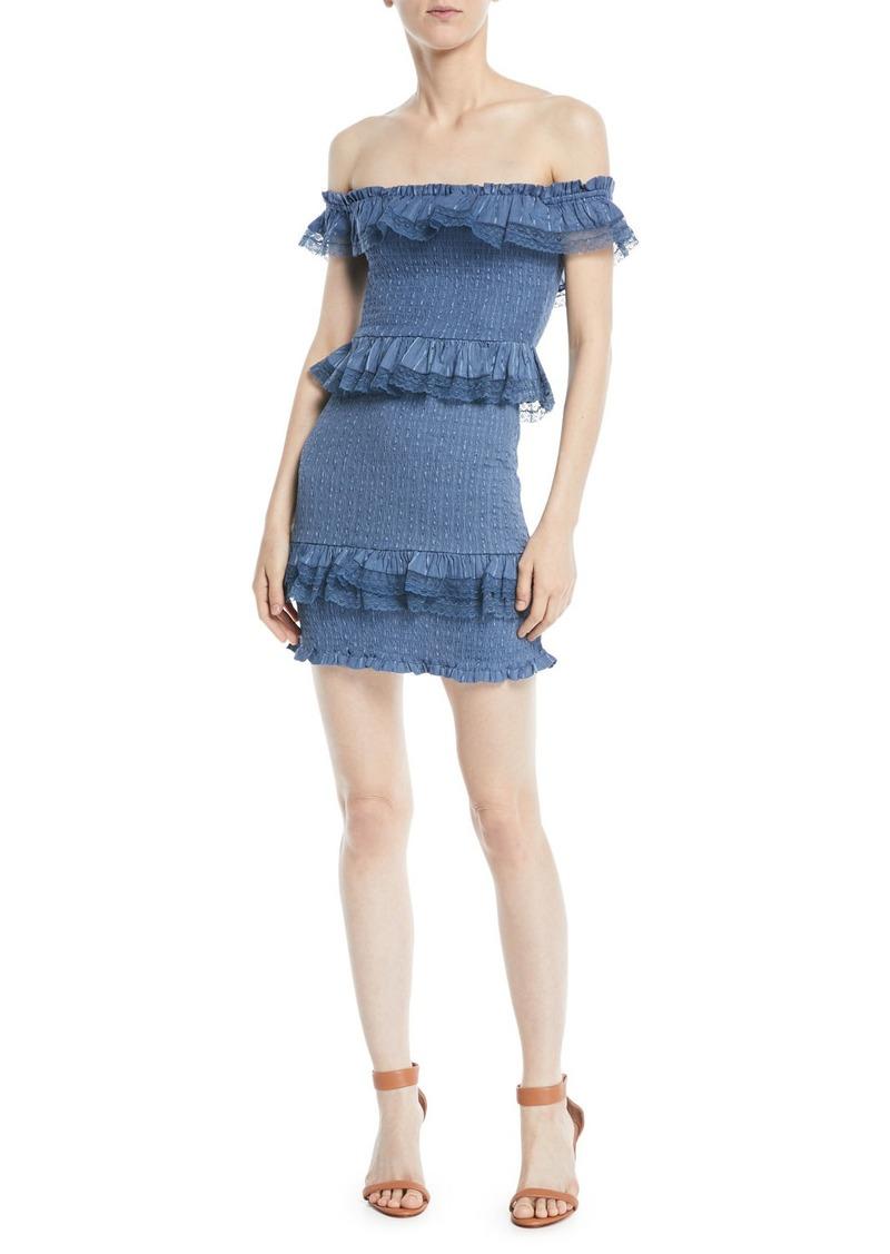 e665793869c5 Tularosa Teri Off-the-Shoulder Ruffle Mini Dress