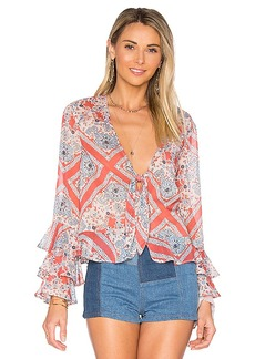 Tularosa Winnie Blouse in Coral. - size S (also in XS,M)
