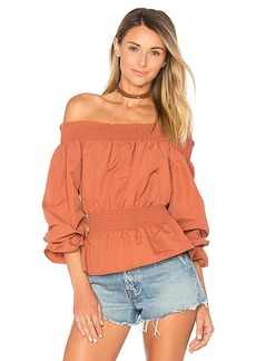 Tularosa x REVOLVE Katie Blouse in Rust. - size M (also in S,XS)