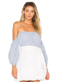 Tularosa x REVOLVE Orai Top in Blue. - size L (also in M,S,XS)