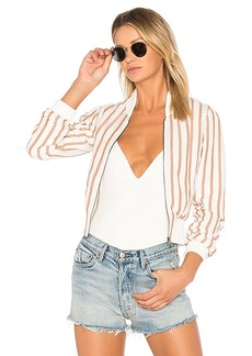 Tularosa x REVOLVE Payson Bomber in Tan. - size L (also in XS,S,M,XL)