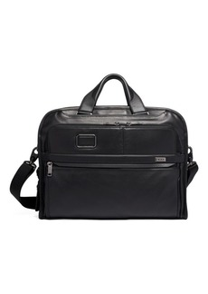 Tumi Alpha Leather Portfolio Briefcase