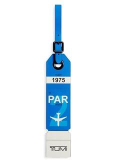 Tumi Paris Leather Luggage Tag