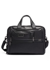 Tumi Alpha 3 Expandable Organizer Leather Laptop Briefcase