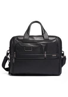 Tumi Alpha 3 Expandable Organizer Leather Laptop Briefcase