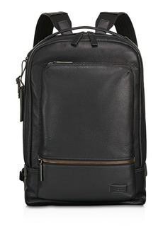 Tumi Harrison Leather Bates Backpack