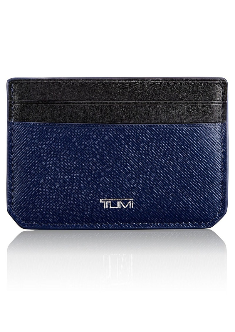 Tumi Mason Leather Money Clip Card Case