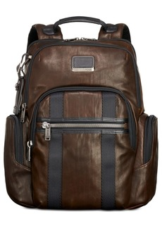Tumi Men's Alpha Bravo Nellis Leather Backpack