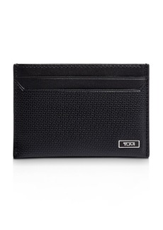 Tumi Monaco Embossed Leather Slim Card Case