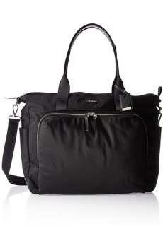 Tumi Women's Voyageur Mansion Carry-All Duffel Bag Black with Silver