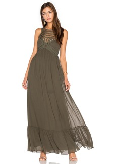 Twelfth Street By Cynthia Vincent Front Embellishment Maxi Dress