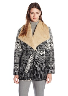 Twelfth Street by Cynthia Vincent Women's Chindo Blanket Wrap Coat