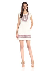 Twelfth Street by Cynthia Vincent Women's Ebroidered Frame Shift Dress