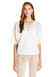 Twelfth Street by Cynthia Vincent Women's Geo Lace Blousant Top