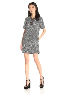 Twelfth Street by Cynthia Vincent Women's Lace Up T Shirt Shift Dress