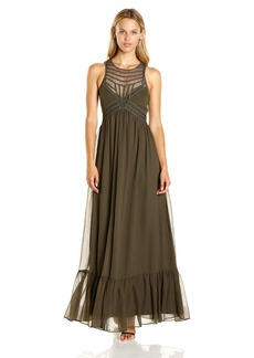 Twelfth Street by Cynthia Vincent Women's Maxi Dress W/ Front Embelishment