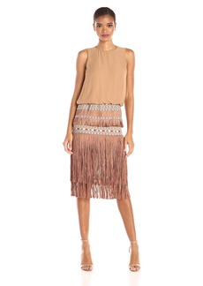 Twelfth Street by Cynthia Vincent Women's Ocean Fringe Dress