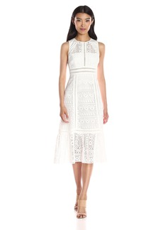 Twelfth Street by Cynthia Vincent Women's Open Back Geo Lace Dress