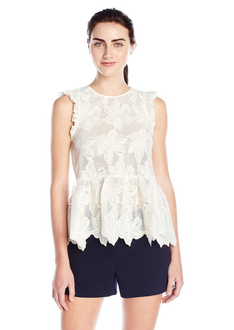 Twelfth Street by Cynthia Vincent Women's Ruffle Shell Top