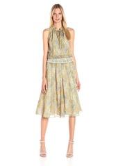 Twelfth Street by Cynthia Vincent Women's Smock Waisted Paneled Skirt Midi Dress
