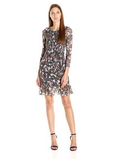 Twelfth Street by Cynthia Vincent Women's Smocked Dress W/Flounce